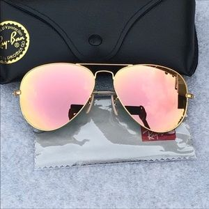 Ray-Ban Aviators Rose Gold